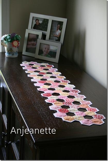 Hexi Window Table Runner by Anjeanette